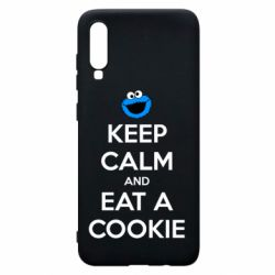 Чехол для Samsung A70 Keep Calm and Eat a cookie