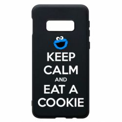 Чехол для Samsung S10e Keep Calm and Eat a cookie