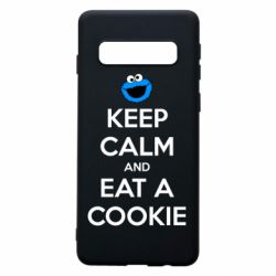 Чехол для Samsung S10 Keep Calm and Eat a cookie