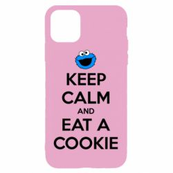 Чехол для iPhone 11 Keep Calm and Eat a cookie