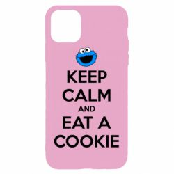 Чехол для iPhone 11 Pro Max Keep Calm and Eat a cookie