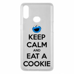 Чехол для Samsung A10s Keep Calm and Eat a cookie