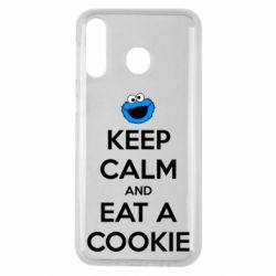 Чехол для Samsung M30 Keep Calm and Eat a cookie
