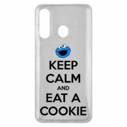 Чехол для Samsung M40 Keep Calm and Eat a cookie