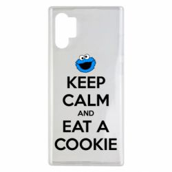 Чехол для Samsung Note 10 Plus Keep Calm and Eat a cookie