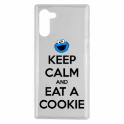 Чехол для Samsung Note 10 Keep Calm and Eat a cookie