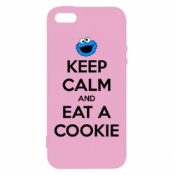Чехол для iPhone5/5S/SE Keep Calm and Eat a cookie