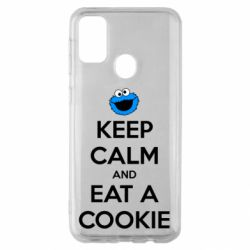 Чехол для Samsung M30s Keep Calm and Eat a cookie