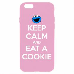 Чехол для iPhone 6/6S Keep Calm and Eat a cookie