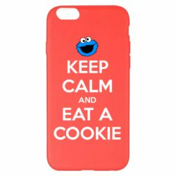 Чехол для iPhone 6 Plus/6S Plus Keep Calm and Eat a cookie