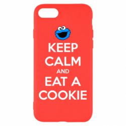 Чехол для iPhone 7 Keep Calm and Eat a cookie