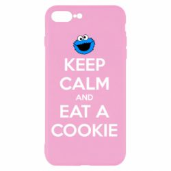 Чехол для iPhone 7 Plus Keep Calm and Eat a cookie