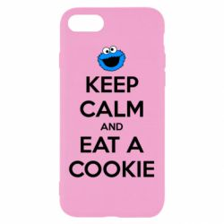 Чехол для iPhone 8 Keep Calm and Eat a cookie