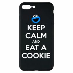 Чехол для iPhone 8 Plus Keep Calm and Eat a cookie