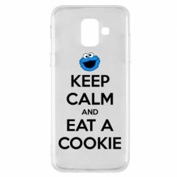 Чехол для Samsung A6 2018 Keep Calm and Eat a cookie