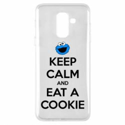 Чехол для Samsung A6+ 2018 Keep Calm and Eat a cookie