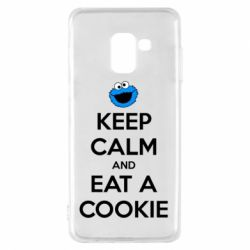 Чехол для Samsung A8 2018 Keep Calm and Eat a cookie