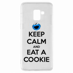 Чехол для Samsung A8+ 2018 Keep Calm and Eat a cookie