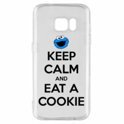 Чехол для Samsung S7 Keep Calm and Eat a cookie