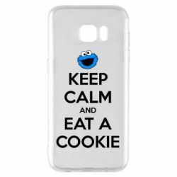 Чехол для Samsung S7 EDGE Keep Calm and Eat a cookie
