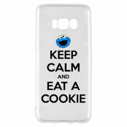 Чехол для Samsung S8 Keep Calm and Eat a cookie