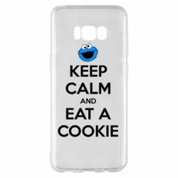 Чехол для Samsung S8+ Keep Calm and Eat a cookie