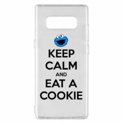 Чехол для Samsung Note 8 Keep Calm and Eat a cookie