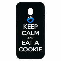 Чехол для Samsung J3 2017 Keep Calm and Eat a cookie