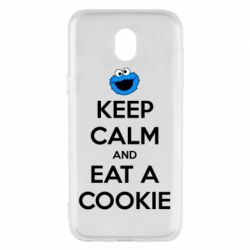 Чехол для Samsung J5 2017 Keep Calm and Eat a cookie