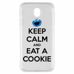 Чехол для Samsung J7 2017 Keep Calm and Eat a cookie