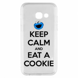 Чехол для Samsung A3 2017 Keep Calm and Eat a cookie