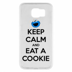 Чехол для Samsung S6 Keep Calm and Eat a cookie