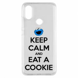 Чехол для Xiaomi Mi A2 Keep Calm and Eat a cookie