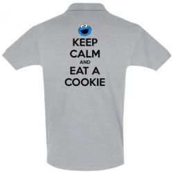 Футболка Поло Keep Calm and Eat a cookie