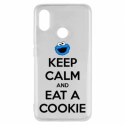 Чехол для Xiaomi Mi8 Keep Calm and Eat a cookie