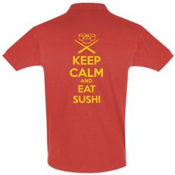 Футболка Поло KEEP CALM and EAT SUSHI