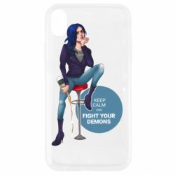 Чехол для iPhone XR Keep calm and fight your demons