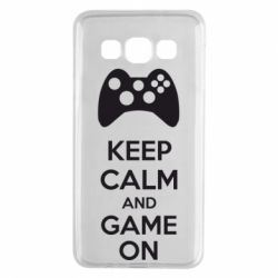 Чехол для Samsung A3 2015 KEEP CALM and GAME ON