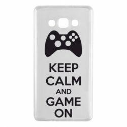 Чехол для Samsung A7 2015 KEEP CALM and GAME ON