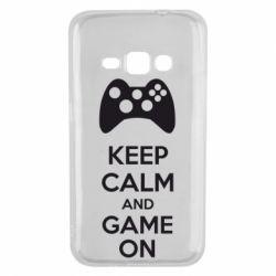 Чехол для Samsung J1 2016 KEEP CALM and GAME ON