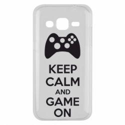 Чехол для Samsung J2 2015 KEEP CALM and GAME ON