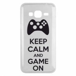 Чехол для Samsung J3 2016 KEEP CALM and GAME ON