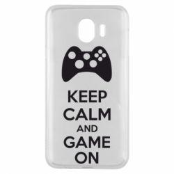 Чехол для Samsung J4 KEEP CALM and GAME ON