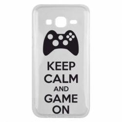 Чехол для Samsung J5 2015 KEEP CALM and GAME ON