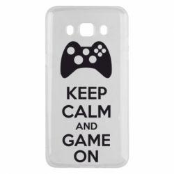 Чехол для Samsung J5 2016 KEEP CALM and GAME ON