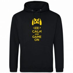 Толстовка KEEP CALM and GAME ON