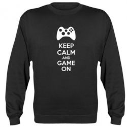 Реглан (свитшот) KEEP CALM and GAME ON - FatLine