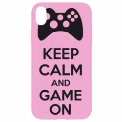 Чехол для iPhone XR KEEP CALM and GAME ON