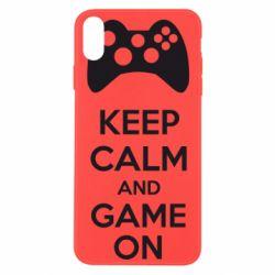 Чехол для iPhone Xs Max KEEP CALM and GAME ON