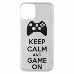 Чехол для iPhone 11 KEEP CALM and GAME ON